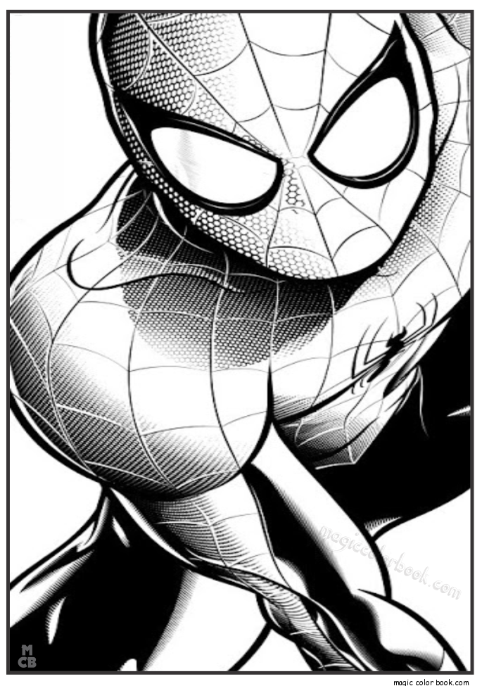 Pin by Magic Color Book on Spiderman Coloring pages free