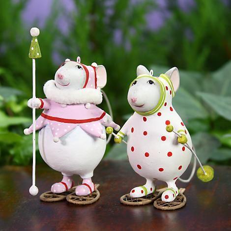 Art Christmas Decor HANDMADE needle felted Molly the Snowball Mouse