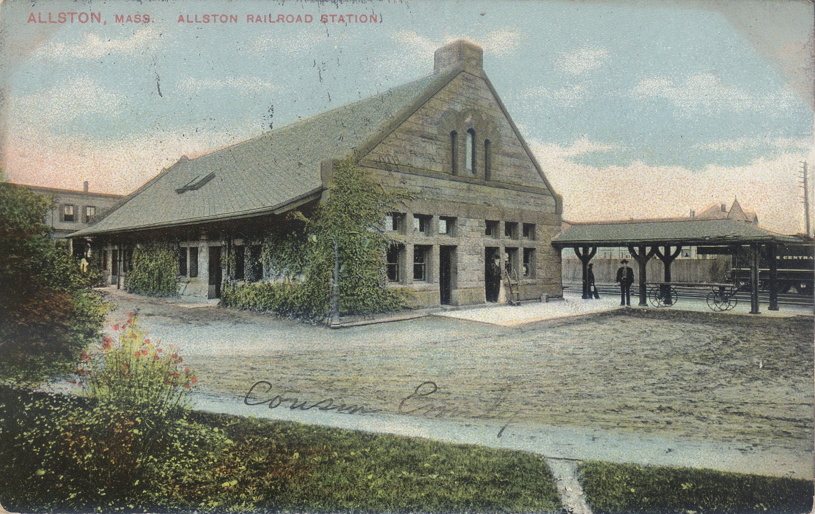 Allston depot. Allston, Railroad station, House styles