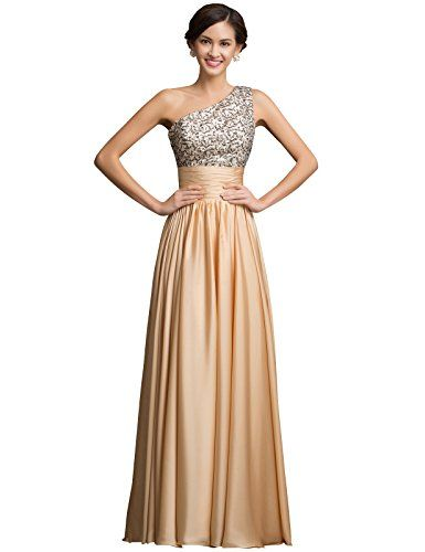 ea035bb6f15 Grace Karin® Women s Elegant One shoulder Sequins Adorned Evening Dresses  CL7529 (2) GRACE
