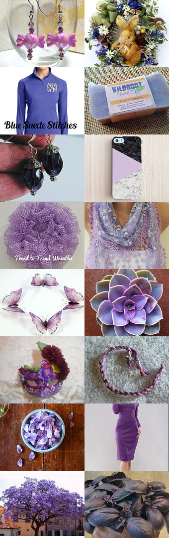 Celebrating Purple! by Jennifer Burrell on Etsy--Pinned with TreasuryPin.com #februaryfinds