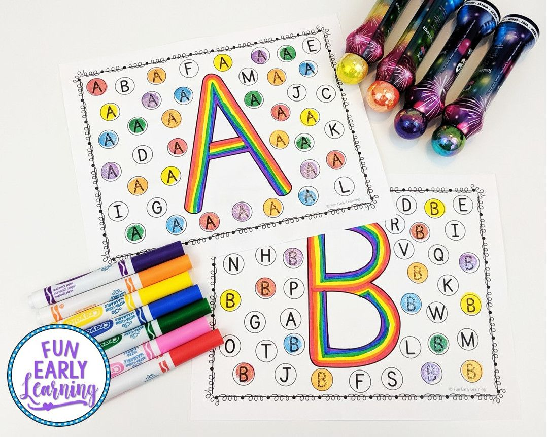 Find And Dot Matching Letters In
