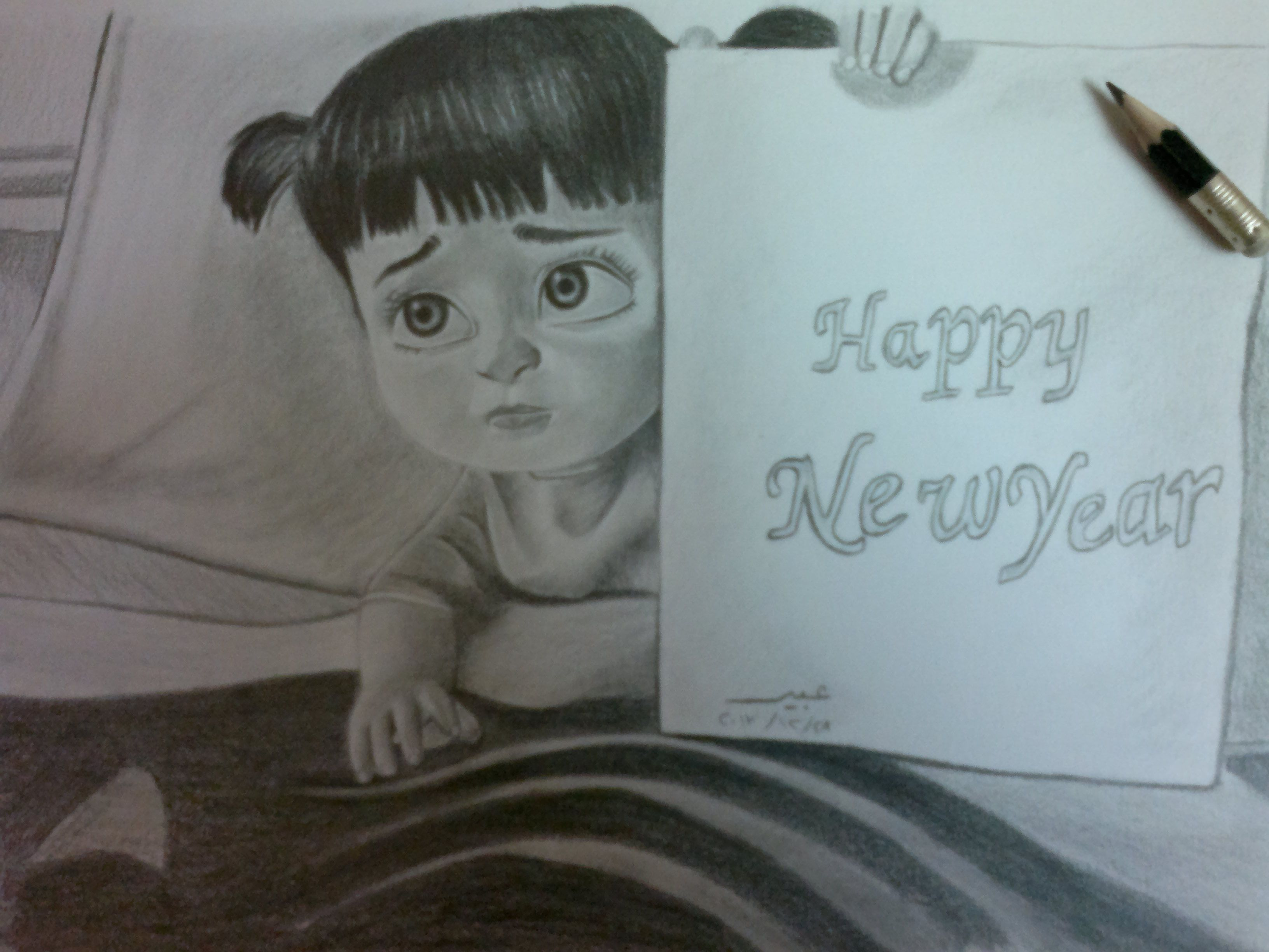 Happy New Year Drawing 81