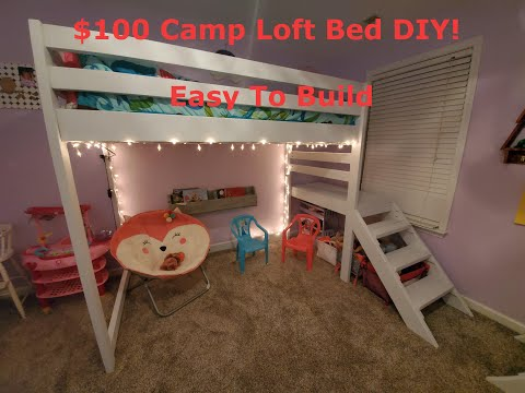 How to build a Loft bed for under 100 (DIY) Camp loft bed