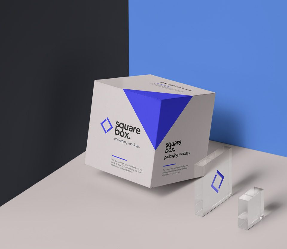 Download This Is A High Quality Square Psd Box Packaging Mockup Which Is Presented To You By Pixeden Th Packaging Template Design Box Packaging Design Packaging Mockup