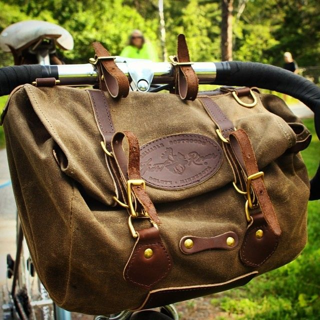 3b4b04f545 Frost River Caribou Trail Bike Bag. It works on the handlebars or the seat!