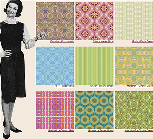 Wallpaper is back with a vengeance! 1960s home decor