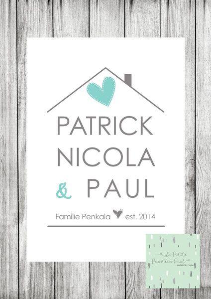 digitaler+Familienprint+von+La+Petite+Papeterie+Paul+auf+DaWanda.com