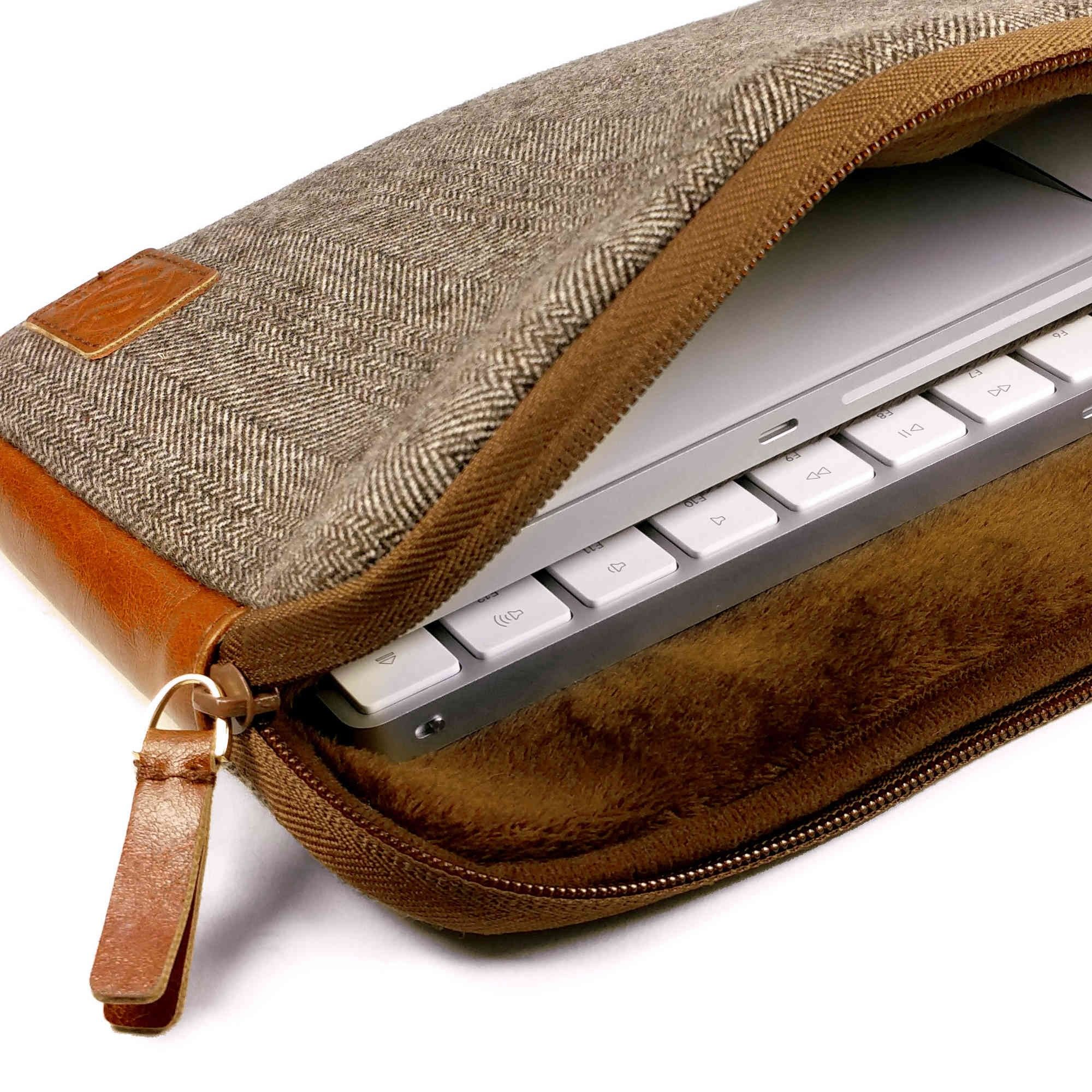 Herringbone Tweed funda de viajes para el enlace Apple Magic Keyboard 1 & 2  / Mouse