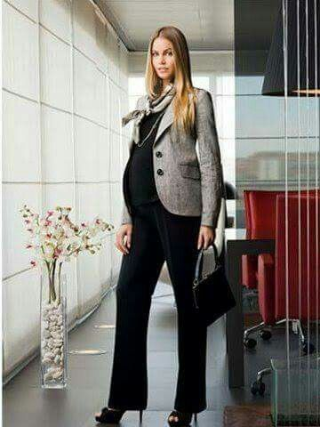 b54fcabdb Preg office outfit Estilos Para Maternidad