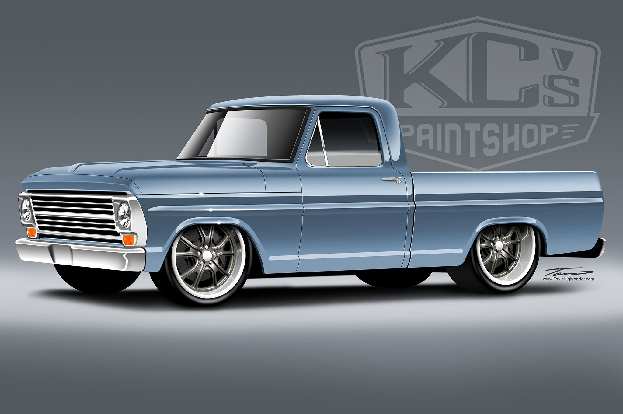 1969 Ford F100 Sick Rendering Ford Pickup Trucks Classic Ford Trucks Old Pickup Trucks