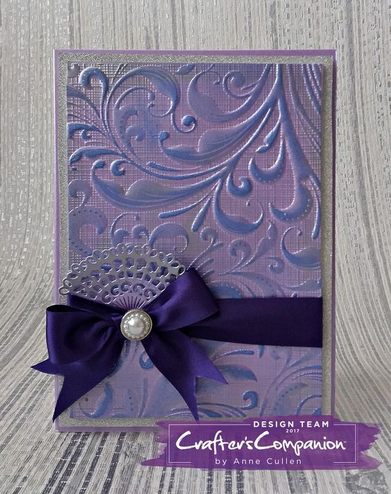Crafter/'s Companion 3D Embossing Folder Textured Swirls Flowers Border