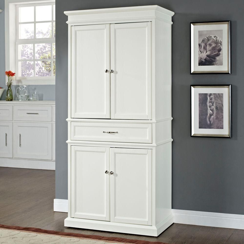 Best Crosley Parsons White Storage Cabinet Cf3100 Wh White 400 x 300