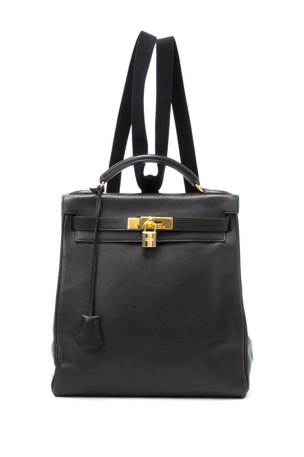 Hermes Black Backpack