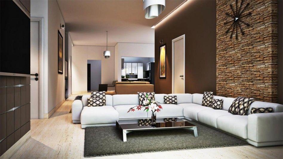 Living Room Terrific Ideas For Family Room Decoration Using Stone Veneer Interior Wall Along With W Living Room Design Modern Living Room Designs Home Decor