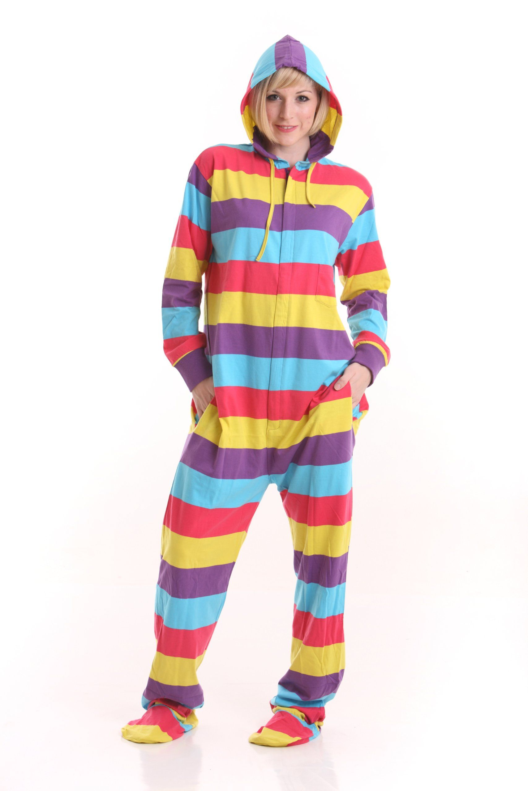 45eb595981 Funzee Adult Onesie Pjs Footed Pajamas Playsuit Festival Style Sizes XS-XXL  (Medium)