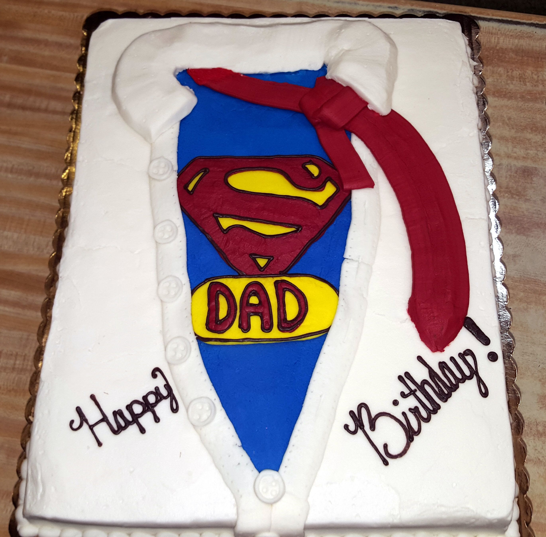 Super Dad Birthday Cake Westhampton Pastry Shop Richmond VA