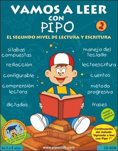 Portada De Aprende A Leer Con Pipo 2 Segunda Parte Del Método Desde La Tiende De Pip Libros Infantiles Para Leer Aprendo A Leer Práctica De Escritura A Mano