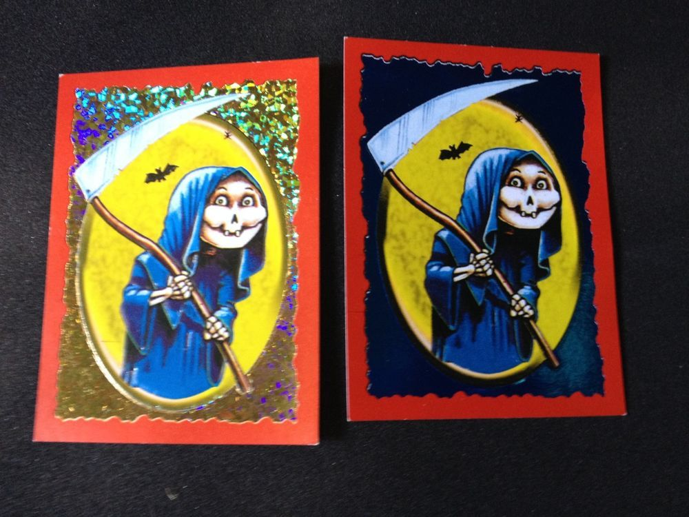 Grim Jim Gpk Basuritas 2 Different Foil Hologram Cards Argentina Basuritas