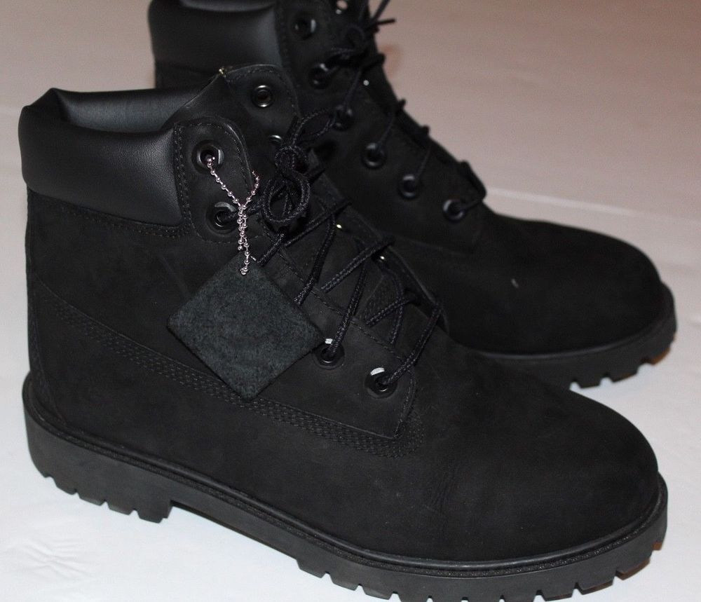 ef16e6770eed2 New Youth-Timberland-6-Inch-Premium-Suede-Boots-Black-TB012907-Grade-School   Timberland  Boots