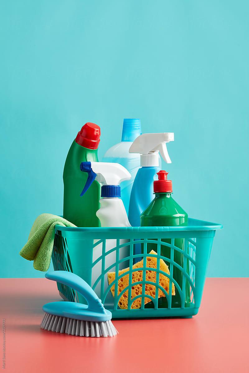 Set Of Detergents In Basket. Stocksy United in 2020