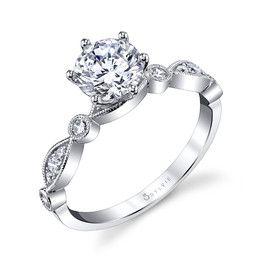 Sylvie Diamond Engagement Ring Andrews Jewelers Buffalo NY