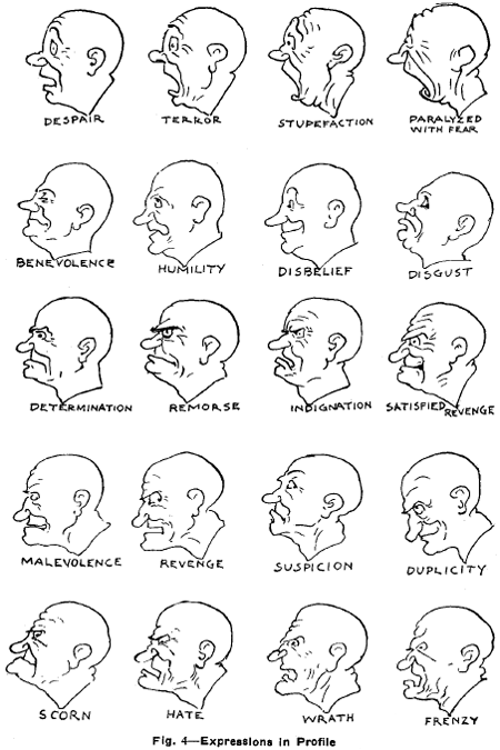 drawing facial expressions and emotions cartoon heads