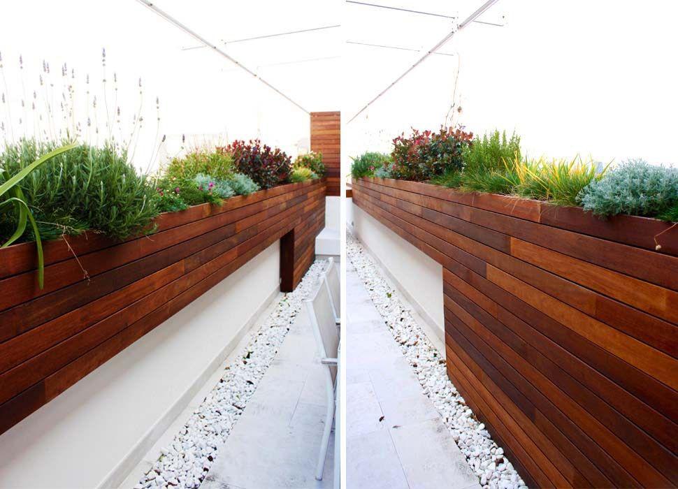 Terraza Moderna Jard N Madera Para Terrazas Y Ticos
