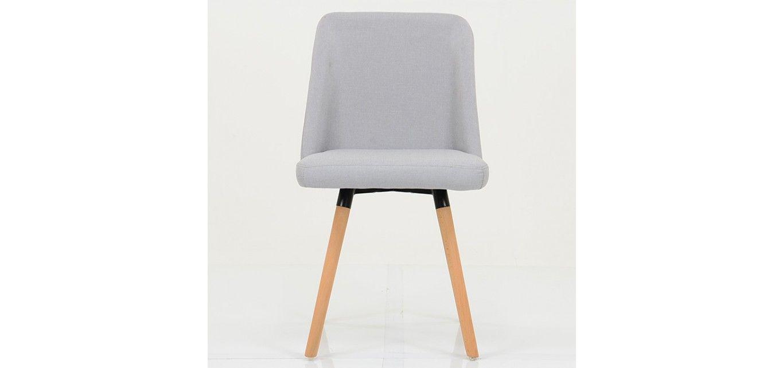 Malmo Light Grey Fabric Dining Chair Grey Fabric Fabric Dining