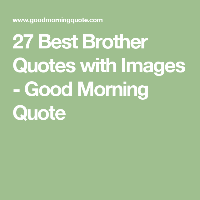 Best Quotes For Younger Brother: 27 Best Brother Quotes With Images