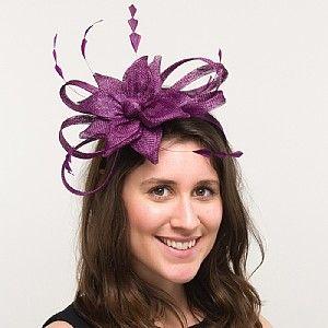 Lilac Fascinators Hats Wedding Guest