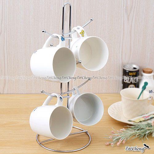 Mit Sale Price Hold 6 Tea Coffee Cup Mug Tree Rack Holder Stand Kitchen Coffee Tea Coffee Cups Mugs
