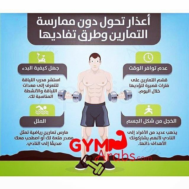 Gym Arabs On Instagram أعذار تحول دون ممارسة التمارين وطرق تفاديها فيتنس جيم طاقة قوة معلومات جيم العرب رياضة كمال الأجسام Gym Instagram Posts Memes