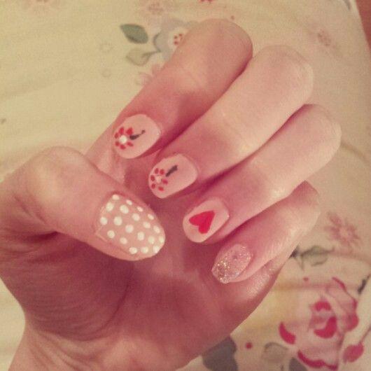 Valentines nails ♥ #nails #art #valentines #day