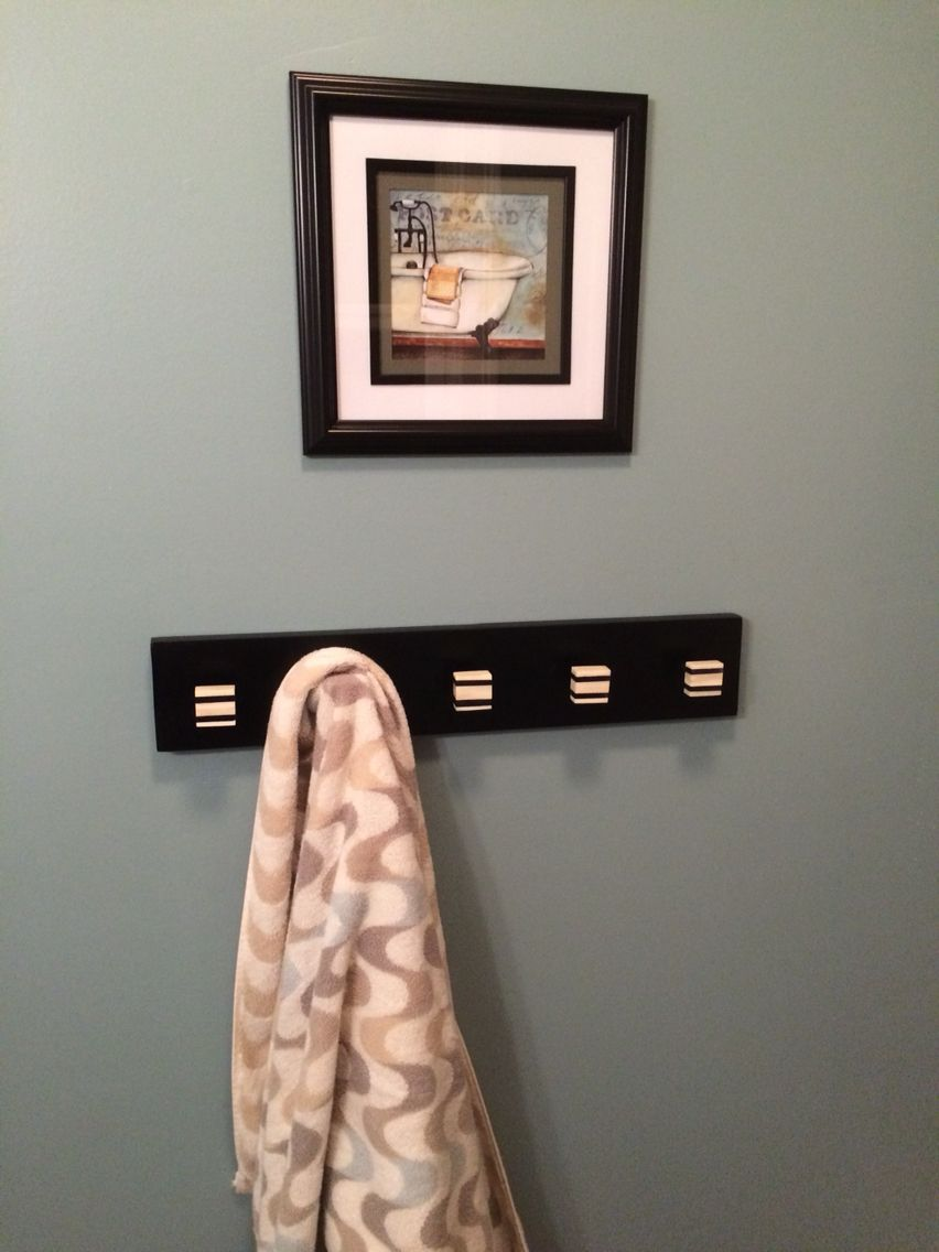 Bathroom Towel Rack With Sherwin Williams Aqua Sphere Perfect Paint Color Hallway Paint Room Inspiration