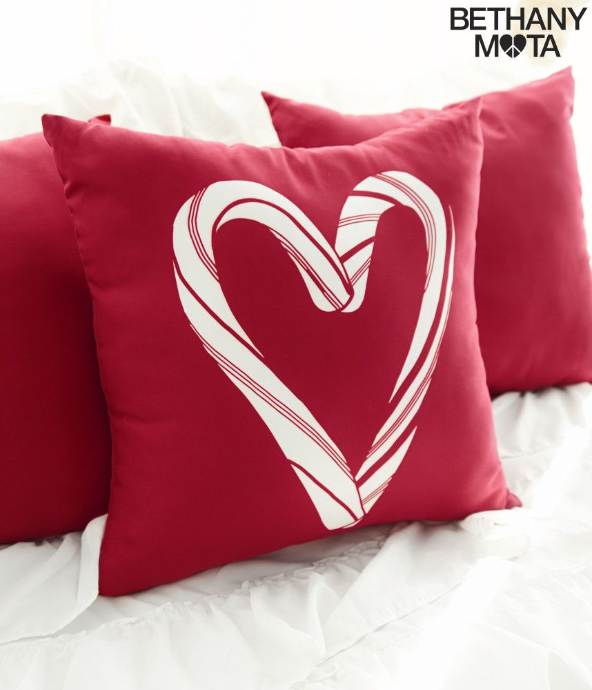 Candy Cane Throw Pillow Aeropostale Christmas