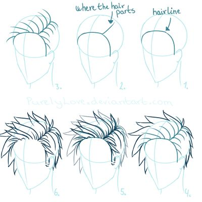 how to draw spiky hair realistic