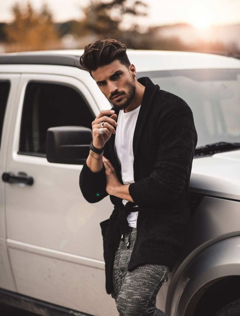 Street style haircut men the coolest outfit for the best black friday shopping  black friday