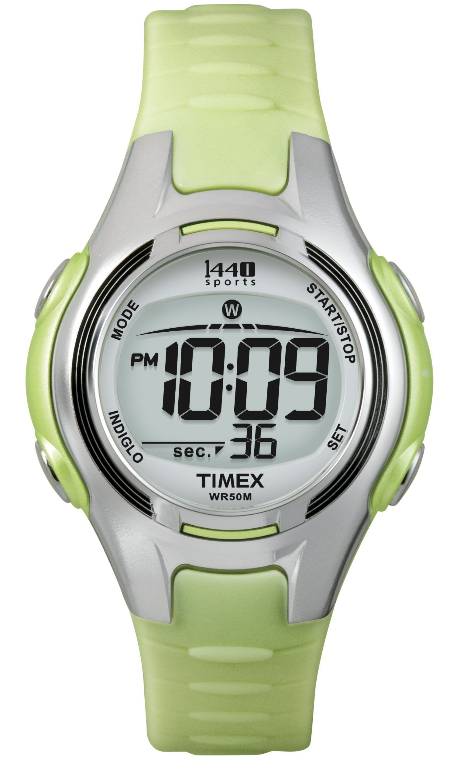7995b5703 Timex Womens T5K081 1440 Digital Watch with LightGreen Resin Strap -- Learn  more by visiting the image link. (This is an affiliate link) #watches