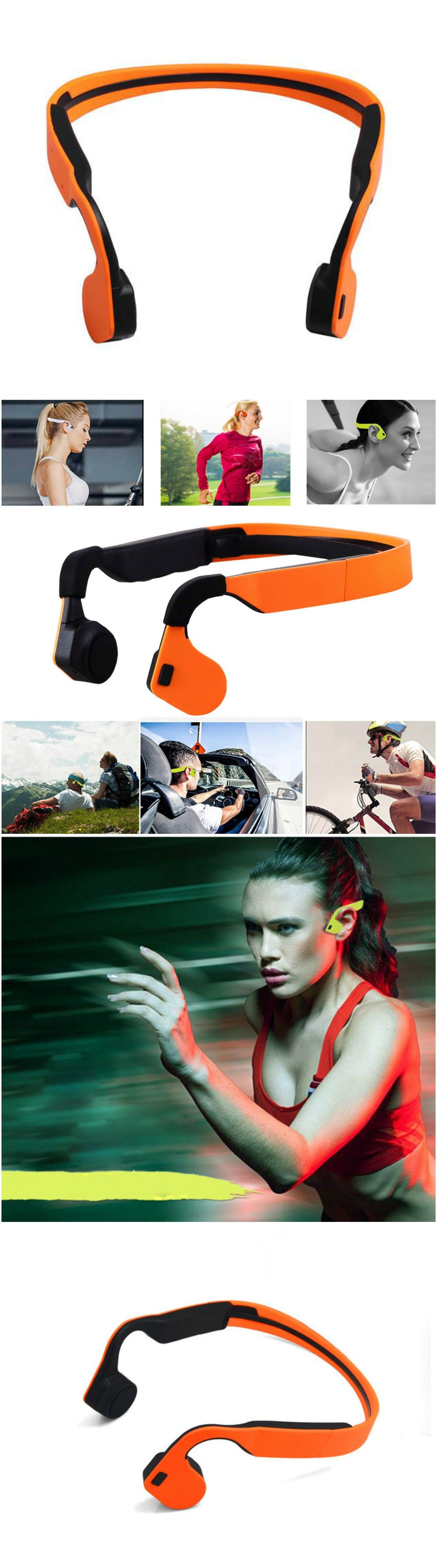Bluetooth Headphone Sport Earpods Wireless Headset with Microphone. Fits into workout and gym clothes.…