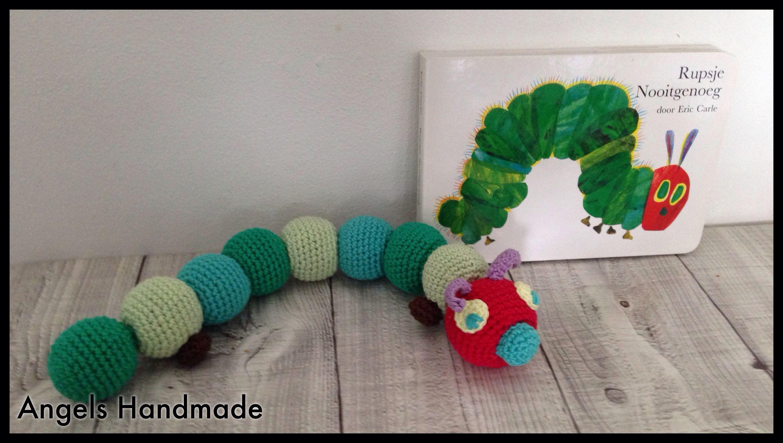 Amigurumi Caterpillar : Rupsje nooitgenoeg gehaakt. link naar gratis haakpatroon #haken