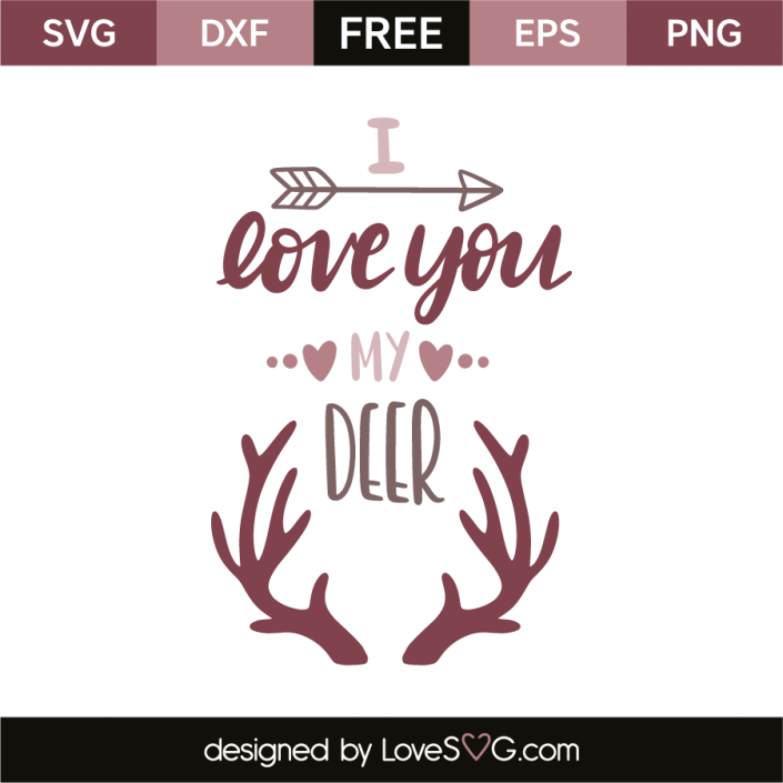 Download I love you my deer | My love, Silhouette clip art, Love ...