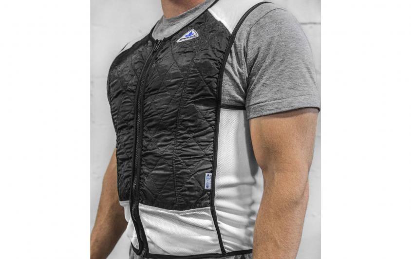 The Techniche Elite Hybrid Cooling Vest Combines Evaporative And