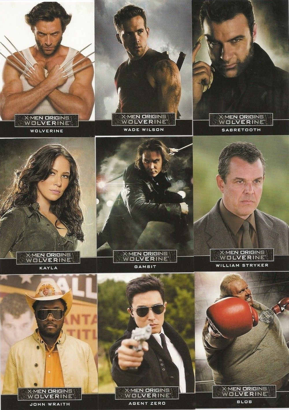 X Men Origins Wolverine Complete 9 Card Casting Call Chase Set Via Maccollectibles Click On The Image To See More Casting Call X Men Wolverine Movie