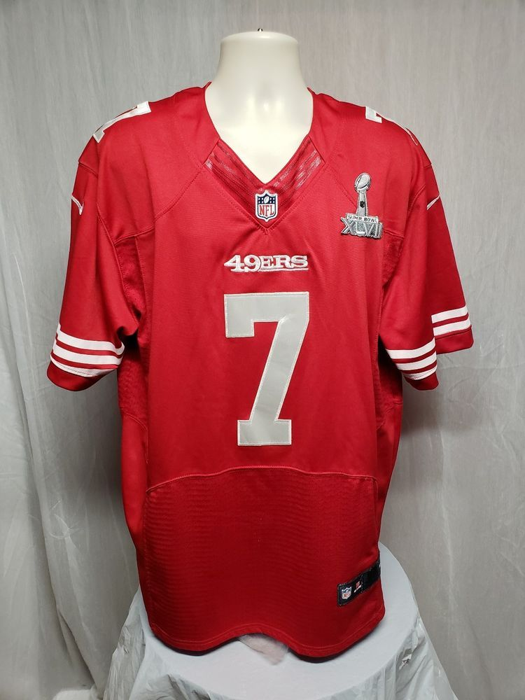 d715d8fcb Nike NFL on Field San Francisco 49ers Colin Kaepernick  7 Men Red Size 52  Jersey  Nike  SanFrancisco49ers