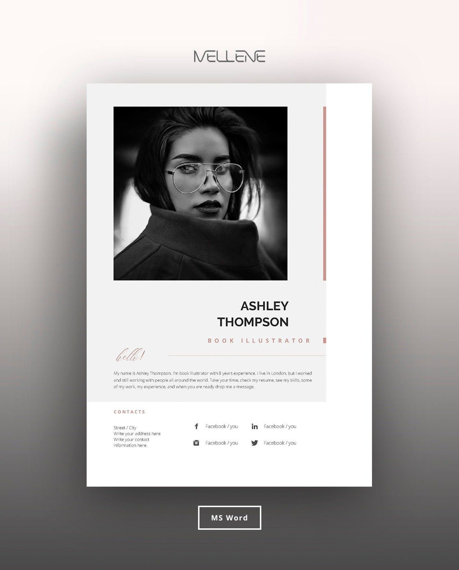 Resume Template 5 Page Cv Template Cover Letter Instant Etsy Cv Design Cv Template Resume Template