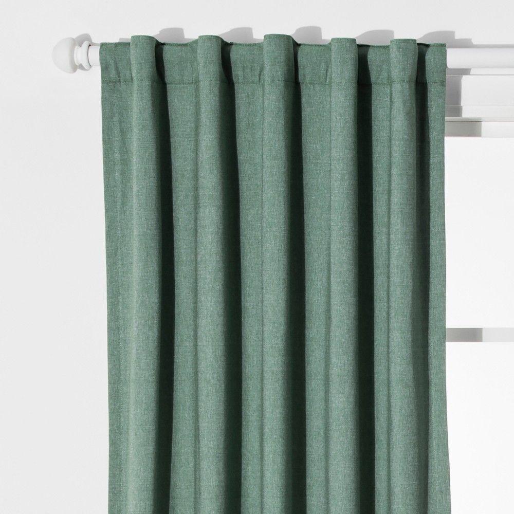 Chambray Window Blackout Curtains Green 42 X84 Pillowfort
