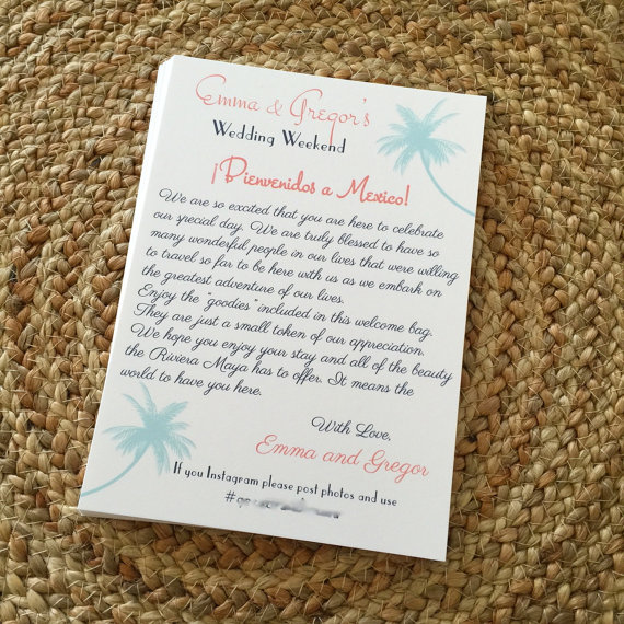 palm beach letter wedding welcome letter destination wedding welcome letter 13547 | 7977703b1fa6516d226ebaf64af91253