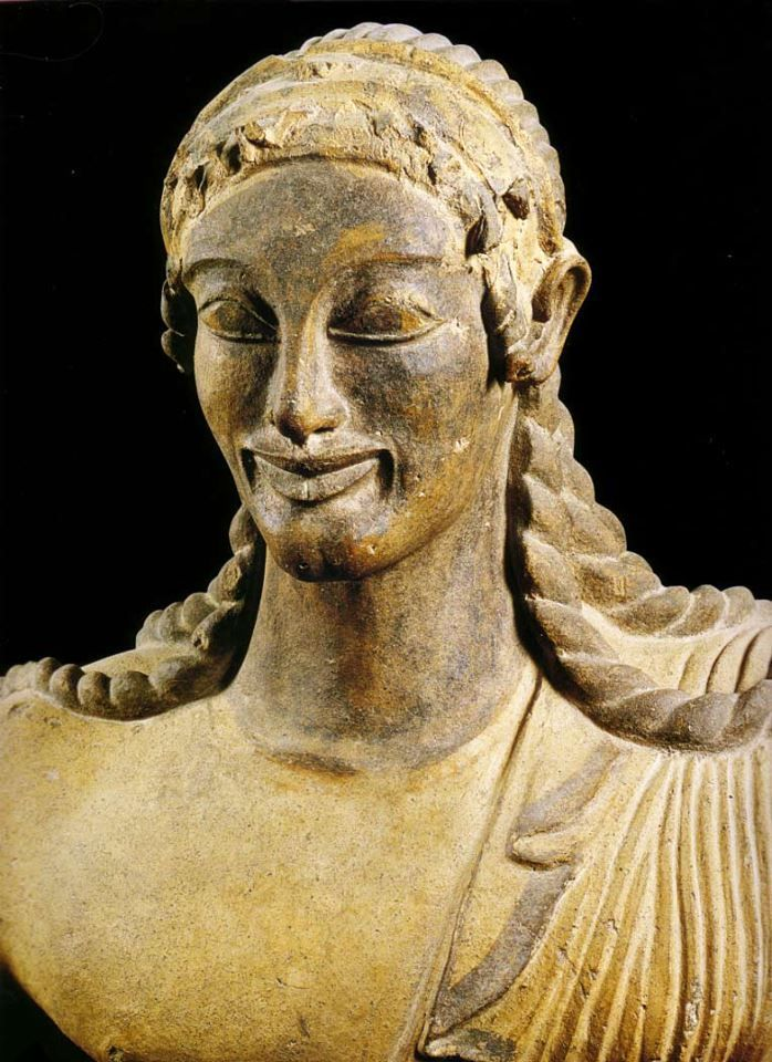 "Apollo statue from Etruscan culture, known as ""Apollo Veii"" - found the Temple at Veii, Italy"