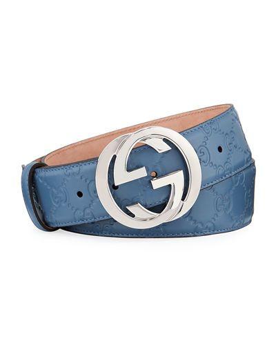 fa11fba5133 Gucci for Men at Bergdorf Goodman. N3HHK Gucci Interlocking G-Buckle  Leather Belt